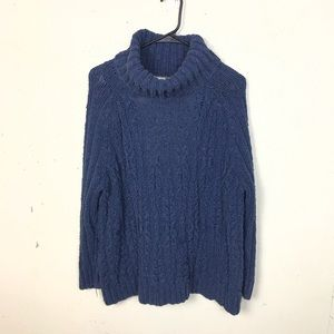 Free People Open Back Turtleneck Sweater Small